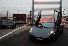 Lamborghini Reventon (Lambo8) Tags: horse up matt grey switzerland photo hp nikon doors power suisse geneva d s mat lp posterior 650 af nikkor ge genve lamborghini matte ch afd reventon longitudinal d80 worldcars 650hp 650bhp lp650 650ch