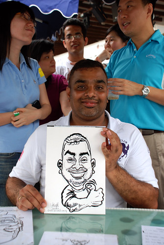 Caricature live sketching for VISA Beach Party 2010 -6