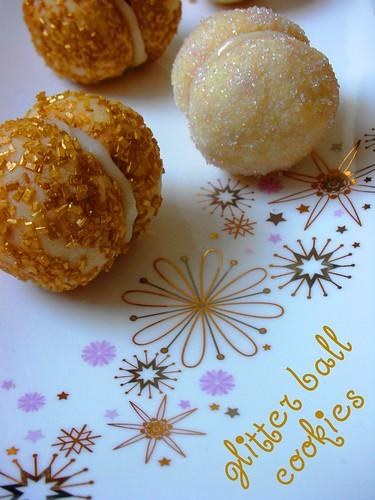 glitter ball cookies