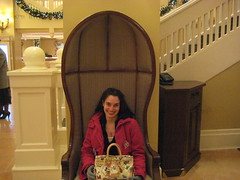 Really tall chair. Or really tiny me.