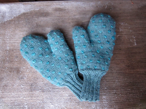 Thrummed mittens for dad