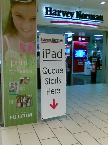 iPad sign