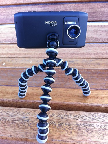 Nokia N8 with Wide Angle Lens and Joby Gorillapod