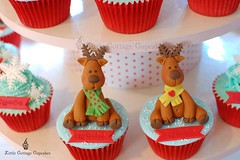 My little Reindeers 2 (Little Cottage Cupcakes) Tags: christmas snowflakes cupcakes reindeers fondant cupcaketower sugarpaste littlecottagecupcakes