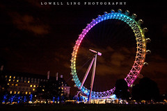 Rainbow London Eye (lowell.ling) Tags: county new uk greatbritain nightphotography travel light summer sky people cloud tree green london tourism thames night river walking relax tickets happy aquarium hotel hall big rainbow nikon europe d70 ben unitedkingdom britain walk jubilee famous year tripod capital central relaxing happiness londoneye parliament ticket landmark visit newyear move tourist southbank change british ba southeast popular riverthames rare lambeth marriot attraction countyhall happynewyear westminister londonaquarium rotate summernight marriothotel jubileegreen rainbowlondoneye