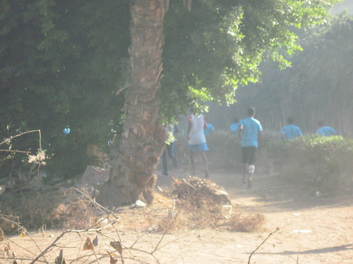 Runners Pass in Sporting Club
