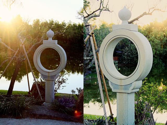 Morikami sculpture diptych