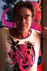 the_artist (duckforcover) Tags: portrait man colour art artist australia octopus cs4 d4c canon50d duckforcover