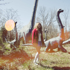 (yyellowbird) Tags: girl square lights kentucky cari dinosaurs