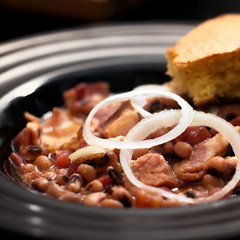 Black Eyed Peas & Ham (Recipe) (HaardNox) Tags: stilllife cooking square recipe 50mm still families nik cornbread nikond90 rrphoto nikonflickraward