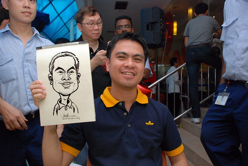 Caricature live sketching for BAT White Christmas Party 2010 - 7