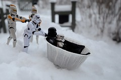 Darth is riding the paper sledge (Kalexanderson) Tags: winter stilllife white snow storm trooper stars toy toys starwars play action bodylanguage son slide troopers plastic darth clones stormtrooper push 365 fatherandson clone figures thegang sledge clonewars familylife clonetrooper wader stromtrooper 2011 2365 ordinarylife clonetroopers project365 darthwader cclones stormtrooperandson