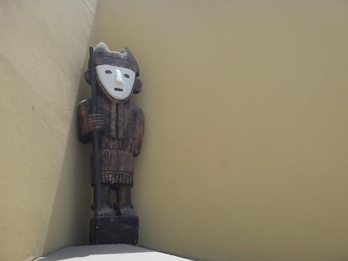 Dude Guarding Museo de Chan Chan