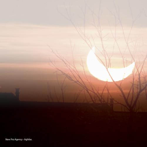 Brussels - Éclipse partielle du Soleil - 04 janvier 2011 - 09:10