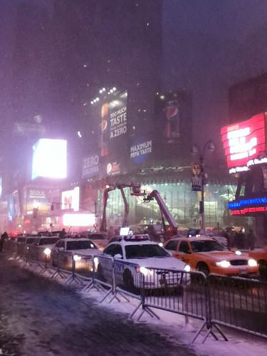 blizzard times square