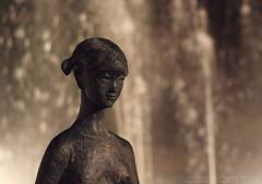 """Serenidade"" (""Serenidad"", ""Serenity"") (Domonte Design) Tags: sculpture girl sepia 50mm bokeh skulptur sculptuur nia escultura nena menina jente fille meisje ragazza  fata scultura  neska madchen   menia domonte"