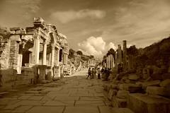 Ephesus and Hadrian's temple (Gezlarge) Tags: old city rome canon turkey eos ancient theatre roman harbour selcuk ephesus 40d
