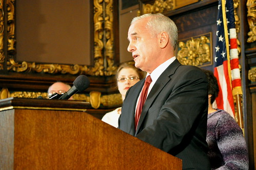 minnesota governor mark dayton. As Governor Mark Dayton gave