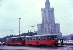 1985 Warsaw tram 1 (raymcd2) Tags: light trolley tram poland railway electricos warsaw lightrail streetcar 1985 trams trolleys strassenbahn tramways transvias