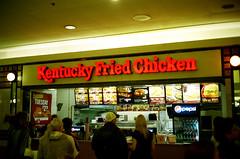 Kentucky Fried Chicken (Chris Hoopmann) Tags: food canada chicken film vintage logo minolta kodak kentucky fast 11 400 kfc hi fried matic