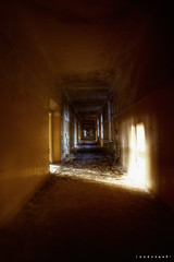 Endless corridor ([AndreasS]) Tags: old light urban history abandoned broken canon buildings hospital germany dark lost long mood view place decay secret military exploring grunge corridor surreal sigma eerie location dirty creepy spooky forbidden forgotten german infiltration soviet ddr 5d inside disturbing walls clinic sanatorium russian desolate derelict 1224mm hdr decayed krankenhaus korridor lager trespassing hdri manfrotto endless mii sykehus neues urbex infiltrate forlatt forfall klinikk photoxploring