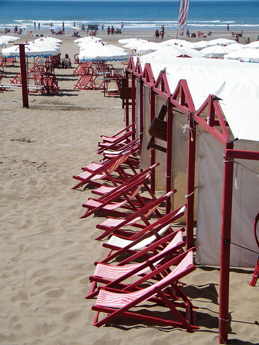Cabanas and Chairs on the Beach in Necochea, Argentina by katiemetz, on Flickr