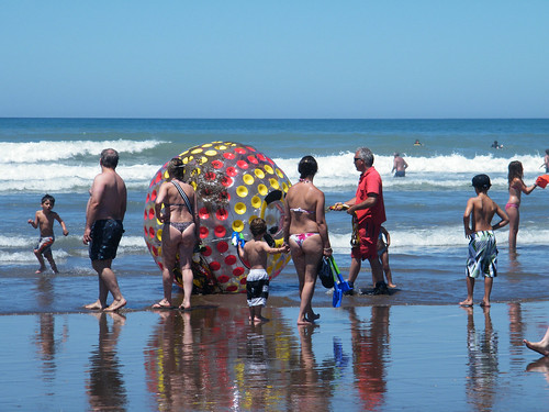 Human Inflatable Beach Ball by katiemetz, on Flickr
