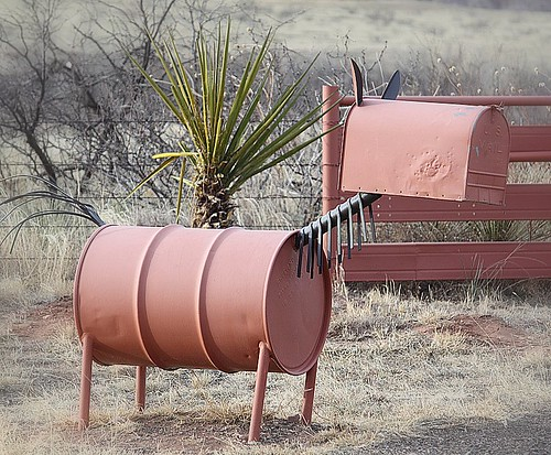 Mailboxes: Horse Made from Barrel | New Mexico