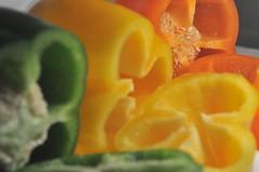 (audrey.n) Tags: pepper peppers yellowpepper greenpepper orangepepper