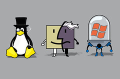 Villains (Lishoffs) Tags: windows two illustration penguin mac faces mr humor systems os system freeze batman linux vector villains operative