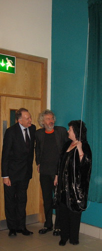 Prof. John Brooks with unknown and Carol Ann Duffy