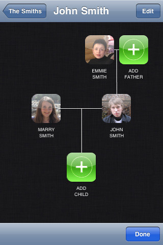Family Trees Genealogy Software for iOS