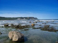 Ravenscar to Robin Hoods Bay (lordminty) Tags: blue sea sky seascape robin digital four bay yorkshire north olympus third zuiko 43 hoods ravenscar e500 zd olympuse500 1442 zuikodigital 43rds 1442mm