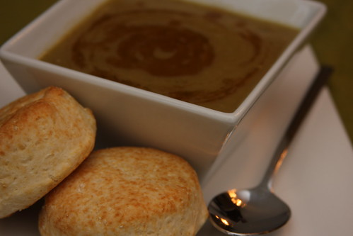 Split Pea Soup with Toasted Sesame Oil