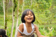 (changeitinerary) Tags: bali girl laughing indonesia tirta empul