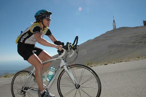 Nancy Brook climbs Ventoux with a hangover. Photo by Éric Ben Attar