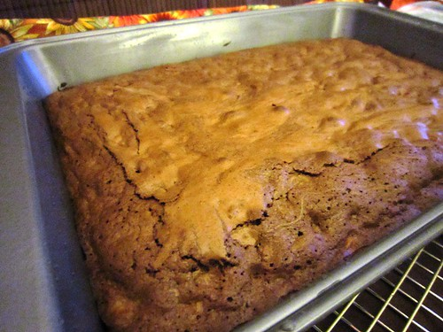 Mud cake fresh out of oven