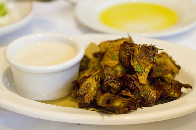 Carciofini Fritti: Fried Artichokes & Anchovy Bread Sauce