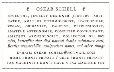 oskar card