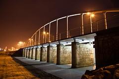 Puente del tren (23 EXPLORE / 20-01-2011) (Jose Casielles) Tags: color luz tren puente luces noche via arco iluminacion yecla pilares chicharra fotografasjcasielles