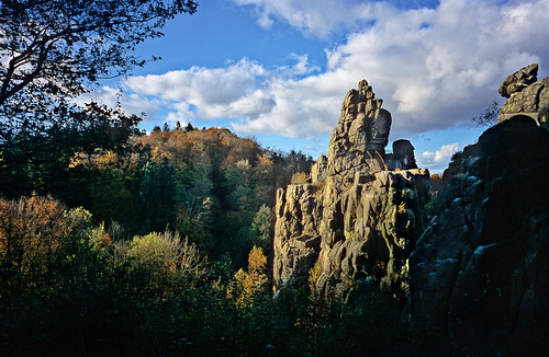 Externsteine in Autumn - Externsteine im Herbst - Copyright by Martin Liebermann