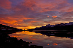 Morning (*Jonina*) Tags: morning sky reflection clouds iceland village sland sk himinn speglun morgunn fskrsfjrur faskrudsfjordur orp