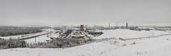 Vuosaaren satama (Roni Rekomaa) Tags: winter sky panorama cloud white snow suomi finland grey helsinki factory harbour vuosaari 2011