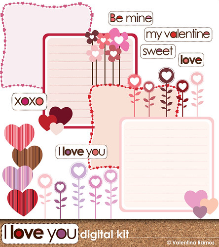 Be Mine, Valentine Digital Scrapbook kit