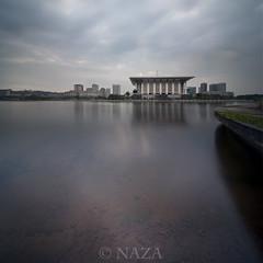 Cloudy Morning in Putrajaya (naza.carraro) Tags: sunrise cloudy steel putrajaya masjid besi moque naza vertorama naza1715 nazarudinwijee