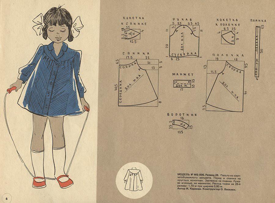 Выкройка платья из старых журналов