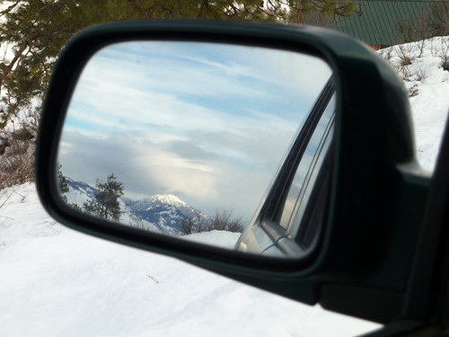 Goat Peak in my rear view mirror