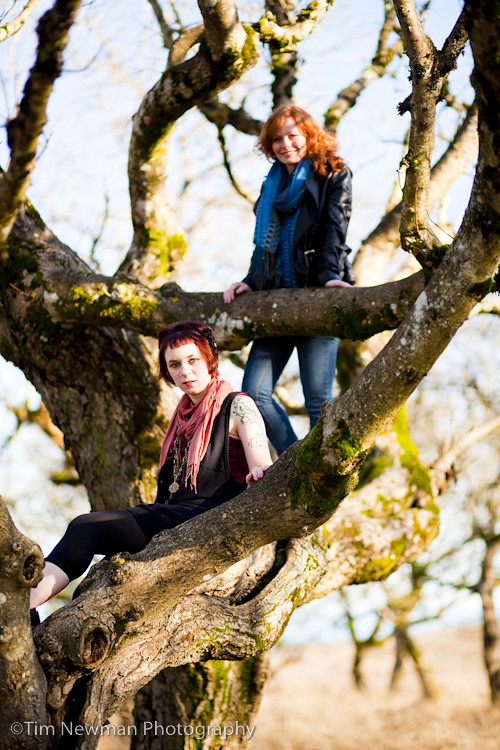 Moriah and Katie in a tree