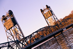 Stillwater Lift Bridge (thesocialmatt) Tags: bridge sunset stillwater liftbridge stillwaterbridge