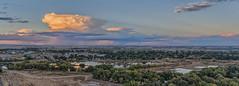 Anti Rays (Michael Scott Schneider) Tags: cloud night dusk set panorama sky fly